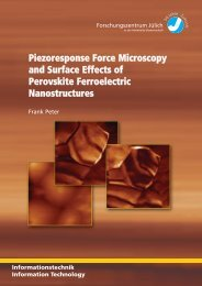 Piezoresponse Force Microscopy and Surface Effects of ... - JuSER
