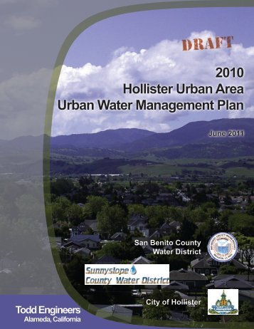 2010 Hollister Urban Area Urban Water Management Plan