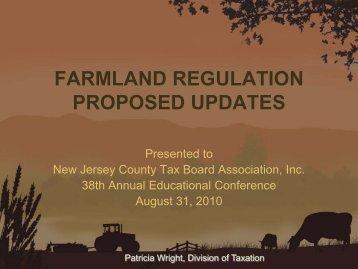 FARMLAND REGULATION PROPOSED UPDATES