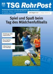 Vereinszeitschrift Und Sportprogramm Der TSG Rohrbach D 1726