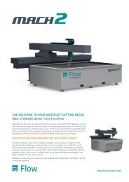 THE SOLUTION TO YOUR WATERJET CUTTING NEEDS - WD Hearn