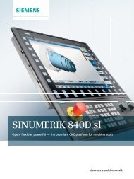 SINUMERIK 840D sl