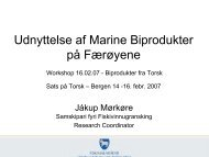 Udnyttelse af Marine Biprodukter på Færøyene