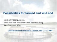 Possibilities for farmed and wild cod
