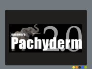 Taking Pachyderm out of the museum …