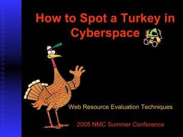 How to Spot a Turkey in Cyberspace