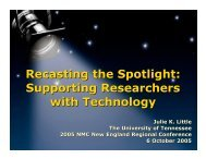 Supporting Researchers with Technology