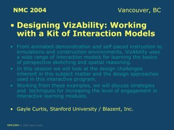 • Designing VizAbility Working with a Kit of Interaction Models