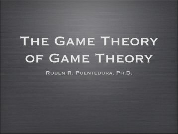 The Game Theory of Game Theory