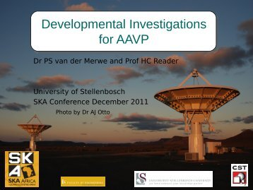 Developmental Investigations for AAVP
