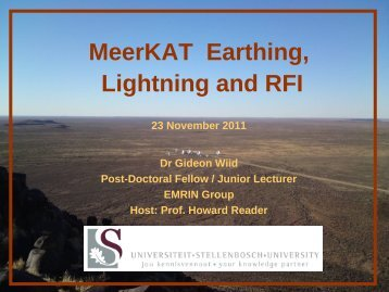 MeerKAT Earthing Lightning and RFI