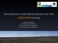 Simulations and Observations for the LADUMA Survey