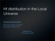 HI distribution in the Local Universe