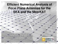 Efficient Numerical Analysis of Focal Plane Antennas for the SKA and the MeerKAT