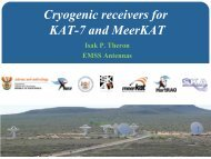 Cryogenic receivers for KAT-7 and MeerKAT