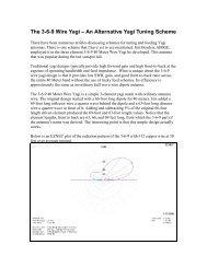The 3-6-9 Wire Yagi – An Alternative Yagi Tuning Scheme