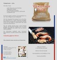 Grilltüte August 2012 - Hotel-Restaurant Vierseithof