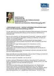 Statement zum Deutschen Weiterbildungstag 2010