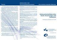 Kulturwirtschaftsberichte heute: Erwartungen und Tendenzen