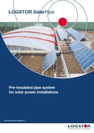 Pre-insulated pipe system for solar power installations