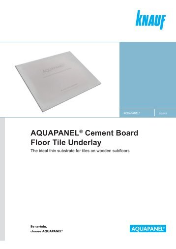AQUAPANEL Cement Board Floor Tile Underlay