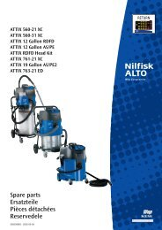 6 filtres sacs adapté pour Nilfisk//wap//alto sq 850-11 sq850-11 filtersack