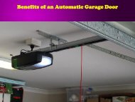 Benefits of an Automatic Garage Door