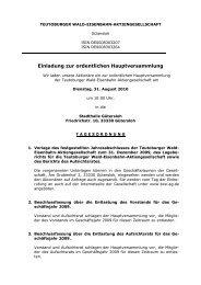 Einladung zur ordentlichen Hauptversammlung - Veolia Transport