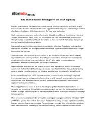 Life after Business Intelligence the next big thing
