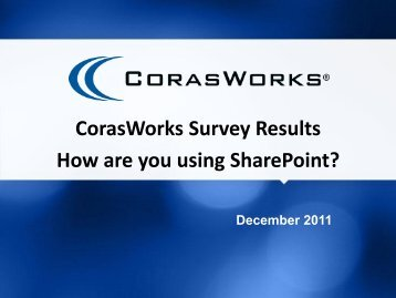 How are you using SharePoint?