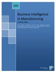 Business Intelligence in Manufacturing
