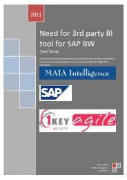 Need for 3rd party BI tool for SAP BW