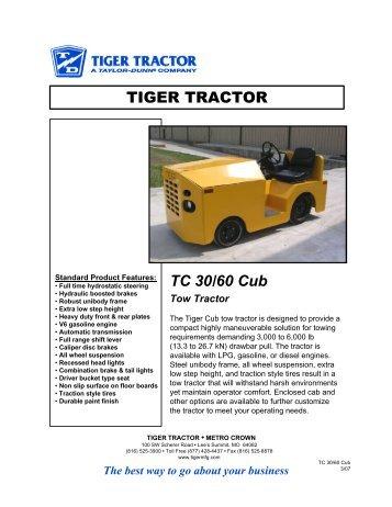 TIGER TRACTOR TC 30/60 Cub