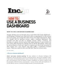 HOW TO USE A BUSINESS DASHBOARD ... - MAIA Intelligence