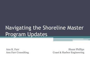 Navigating the Shoreline Master Program Updates