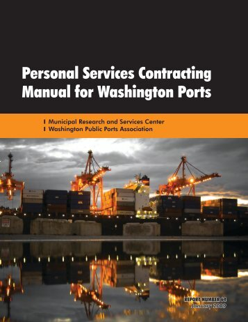 Personal Services Contracting Manual for Washington Ports