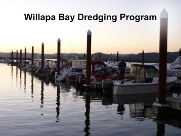 Willapa Bay Dredging Program