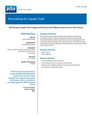 Renovating the Supply Chain
