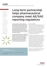 Long-term partnership helps pharmaceutical company meet AE/SAE ...