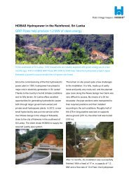 HOBAS Hydropower in the Rainforest, Sri Lanka GRP Pipes help ...