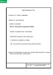 DELIVERABLE N° 12 TITLE  Electrolytic Separation Studies