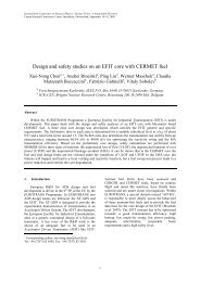 Design and safety studies on an EFIT core with CERMET fuel