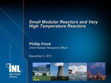Small Modular Reactors and Very High Temperature Reactors