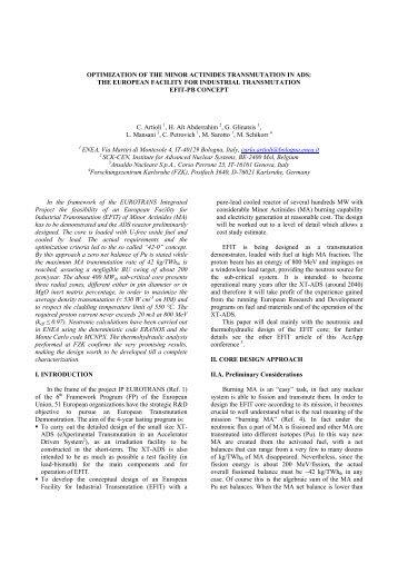 the european facility for industrial transmutation efit-pb concept c. - KIT