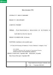 ELECTROCHEMICAL ACTINIDES LiCl-KCl
