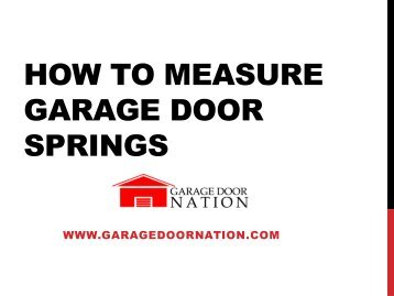 Spring Replacement Guide Trac Rite Door