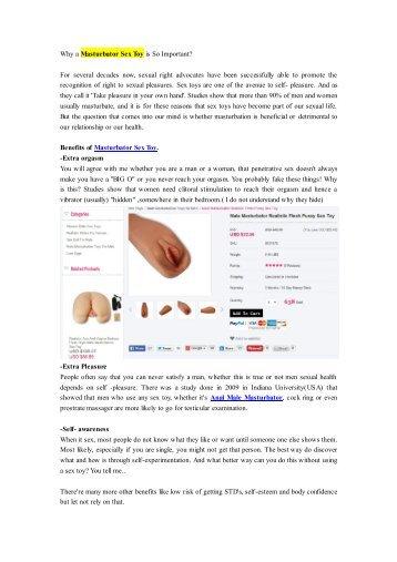Why a Masturbator Sex Toy is So Important-avsextoy.com