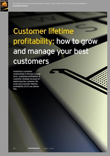 Customer lifetime profitability how to grow and manage your best customers