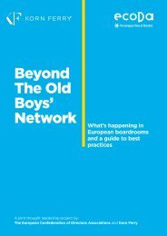 Beyond The Old Boys' Network