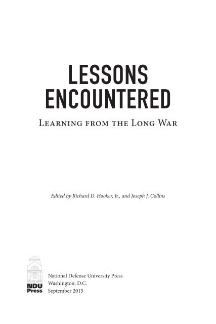 LESSONS ENCOUNTERED